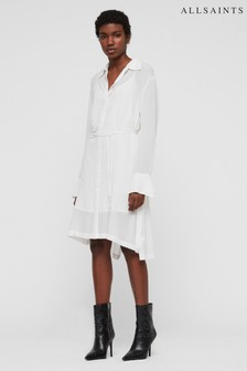 AllSaints White Anya Shirt Dress
