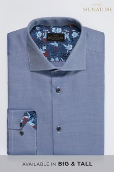 Signature Floral Trim Detail Slim Fit Shirt
