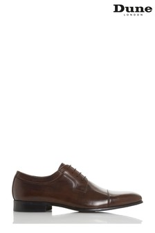 Dune Mens Brown Toe Cap Detail Gibson Shoe