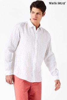 Белая льняная рубашка White Stuff Lymington