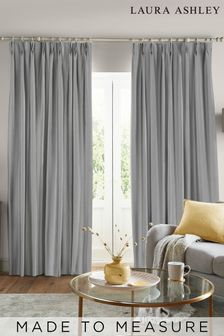 Laura Ashley Steel Swanson Made to Measure Curtains