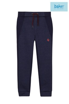 baker by Ted Baker Younger Boys Panelled Navy Jogger