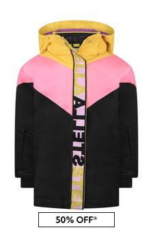 Girls Black Colourblock Ski Jacket