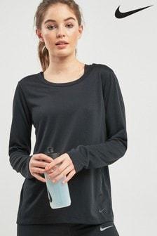 Nike Black Elastka Long Sleeved Top