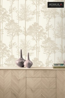 Arthouse Stardust Tree Leaves Wallpaper
