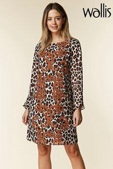 Wallis Petite Leopard Baroque Swing Dress