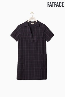 FatFace Blue Cora Check Dress
