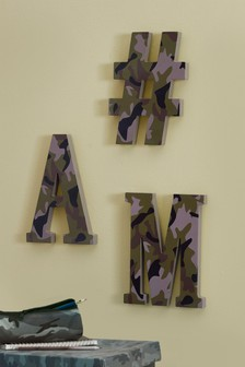 Camouflage Decorative Letter