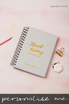 Personalised Start Today 2019 Diary by Martha Brook