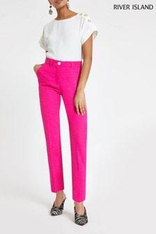 River Island Pink Cigarette Trouser