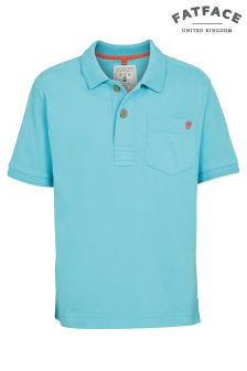 FatFace Bondi Blue Plain Polo