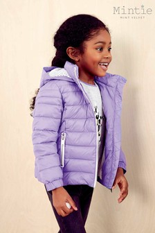 Mintie by Mint Velvet Light Purple Short Padded Coat