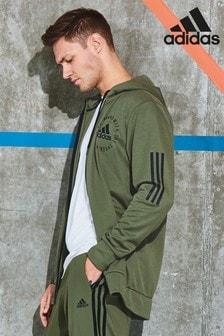 adidas Sport ID Kapuzenjacke mit Reißverschluss, khaki