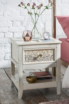 Safi Light Bedside Table