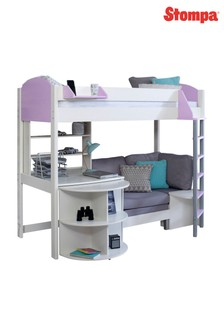 Casa D White/Lilac High Sleeper By Stompa