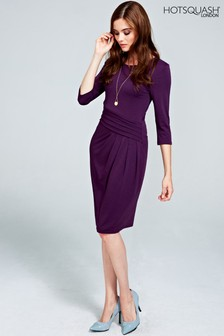 HotSquash Damson Pleat Waist Dress