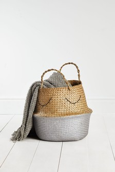Metallic Belly Basket