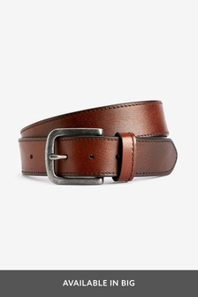 a8e32ccbbfb73 Leather Casual Stitched Edge Belt