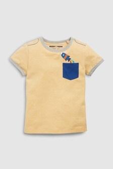 Футболка с короткими рукавами и карманом (3 мес.-7 лет)