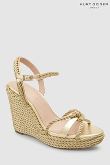Kurt Geiger Gold Neile Wedge Sandal