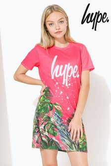 Hype. Pink Floral Tee Dress
