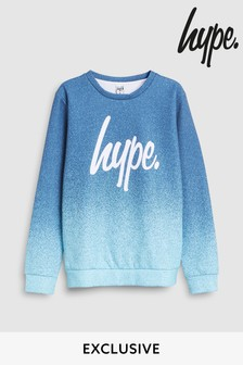 Hype. Navy And Blue Fade Sweat Top