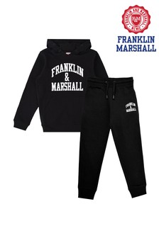 Franklin & Marshall Black Fleece Jogger Set