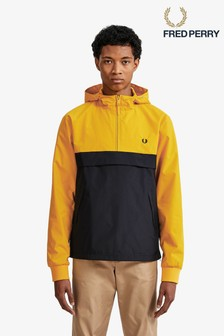 Fred Perry Yellow Half Zip Panelled Jacket