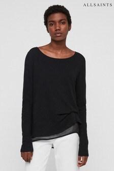 AllSaints Black Decile Blouse