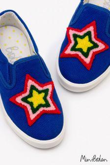 Boden Blue Slip-On Shoe