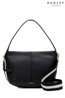 Radley Black Multi Large Crossbody Ziptop Bag
