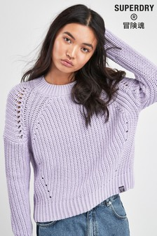 Superdry Purple Knit Jumper