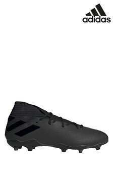 adidas Black Dark Script Nemeziz Firm Ground Football Boots