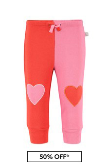 Stella McCartney Kids Baby Girls Pink Cotton Joggers