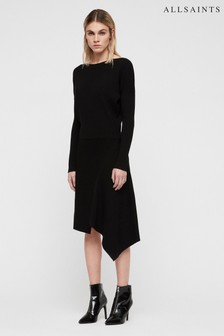 All Saints Black Suke Knitted Dress
