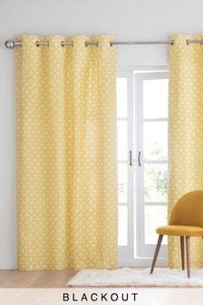 Micro Geo Eyelet Curtains