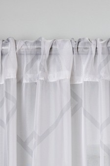 Geometric Slot Top Single Voile Panel