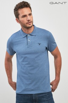 GANT Light Indigo Contrast Collar Pique Polo