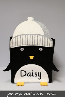 Personalised Penguin Storage Box