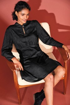 V-Neck Round Collar Dress
