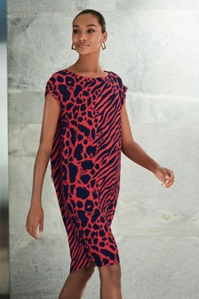 62cf36df0f6 Womens Red Animal Print Dresses