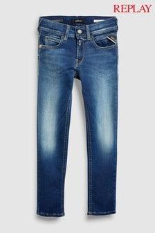 Replay® Kids Dark Wash Hyperflex Super Slim Fit Jean