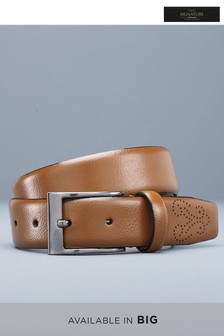 Signature Italian Leather Brogue Tip Belt