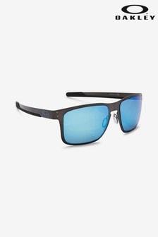 Черные/синие солнцезащитные очки в металлической оправе Oakley® Holbrook