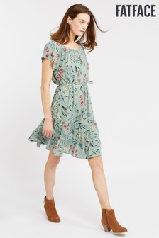 FatFace Green Rosie Harvest Floral Dress