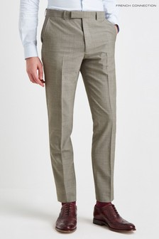 French Connection Slim Fit Sage Marl Trouser