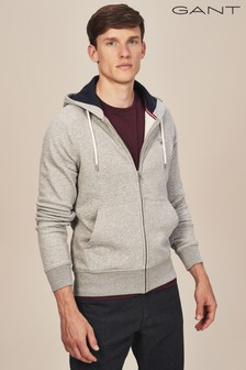 GANT Grey Original Fullzip Sweat Hoody