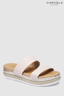Carvela Nude Leather Kustard Sandal