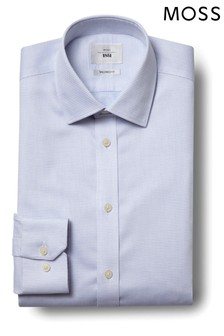 Moss 1851 Tailored Fit Sky Single Spot Zero Iron Shirt
