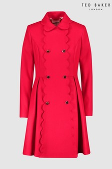 Ted Baker Red Wool Coat
